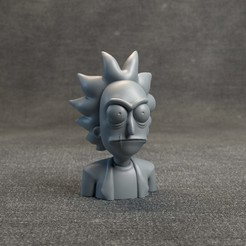 RickandMortyHeadz_02.jpg Download OBJ file Evil Rick • 3D print design, MarProZ_3D