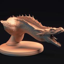 Game of Thrones - Drogon (1).png Download STL file Bust: Dragon • 3D printing design, MarProZ_3D