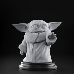 BabyYoda.jpg Download STL file Baby Yoda - Star Wars The Mandalorian • Template to 3D print, MarProZ_3D