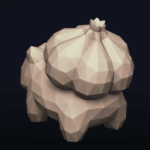 10.png Télécharger fichier OBJ Pokemon Bulbasaur LowPoly • Modèle pour impression 3D, MarProZ_3D