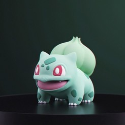 Bisasam_1.jpg Download free STL file Pokemon - Bulbasaur • 3D printing design, MarProZ_3D