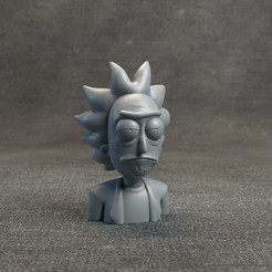 RickandMortyHeadz_01.jpg Download OBJ file Rick Sanchez - Rick and Morty • 3D printable template, MarProZ_3D
