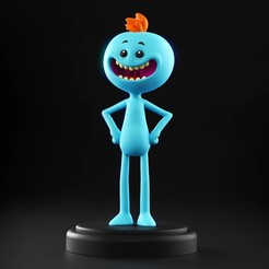 Download 3D printer designs Mr. Meeseeks - Rick and Morty, MarProZ_3D