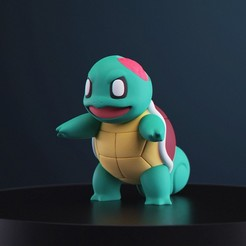 HWSchiggy_1.jpg Download free STL file Pokemon - Halloween Squirtle • Template to 3D print, MarProZ_3D