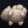 16.png Télécharger fichier OBJ Pokemon Bulbasaur LowPoly • Modèle pour impression 3D, MarProZ_3D