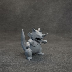 05.jpg Download OBJ file Pokemon Rhydon LowPoly • 3D printing design, MarProZ_3D