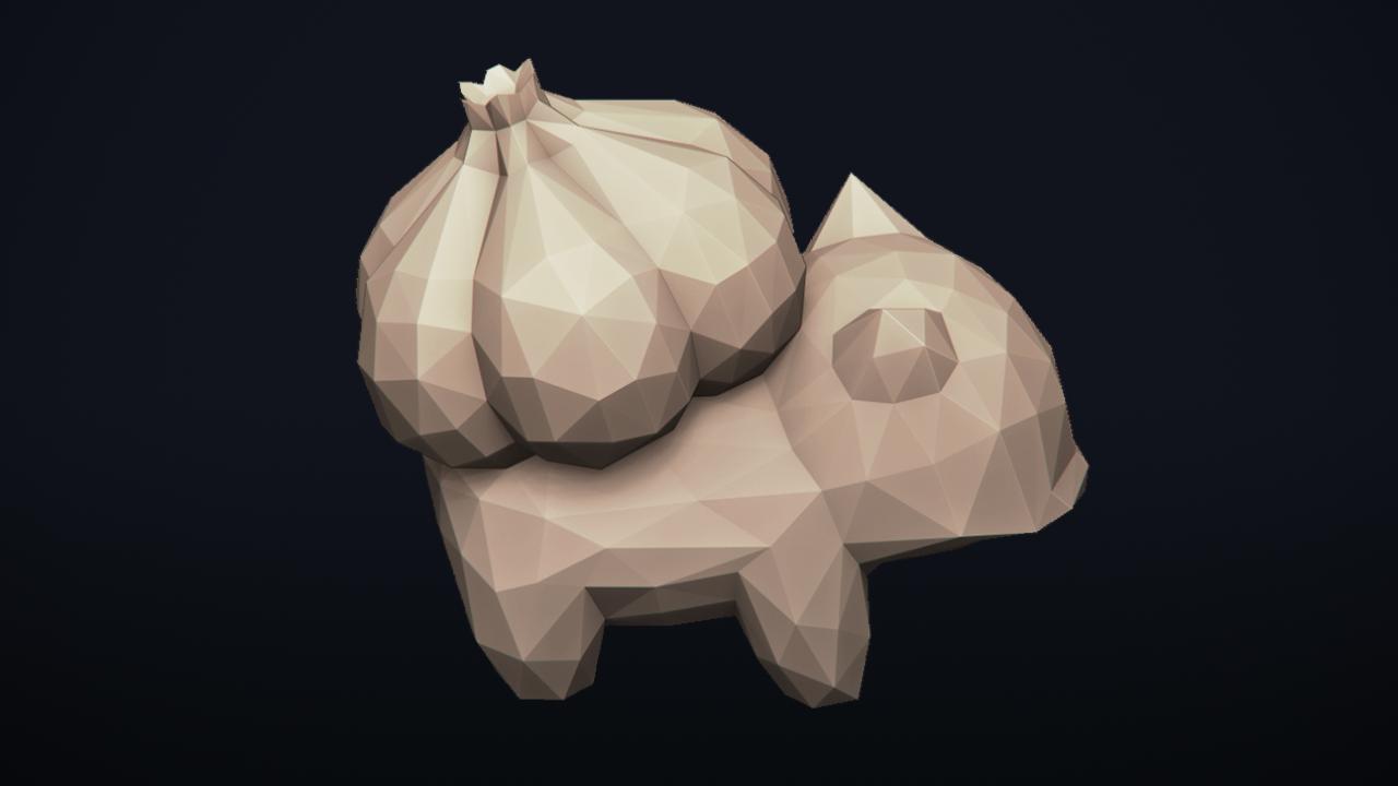 13.png Télécharger fichier OBJ Pokemon Bulbasaur LowPoly • Modèle pour impression 3D, MarProZ_3D