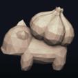 18.png Télécharger fichier OBJ Pokemon Bulbasaur LowPoly • Modèle pour impression 3D, MarProZ_3D