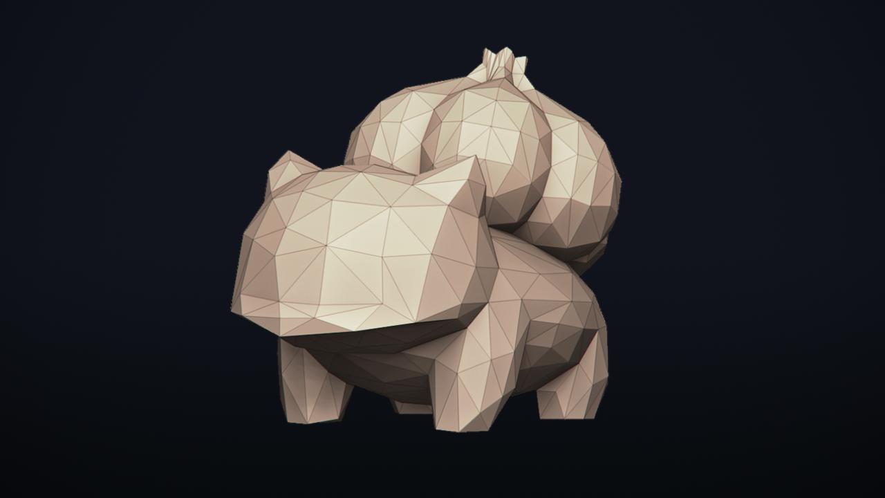17.png Télécharger fichier OBJ Pokemon Bulbasaur LowPoly • Modèle pour impression 3D, MarProZ_3D