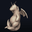 Télécharger plan imprimante 3D Pokemon LowPoly Dragonite, MarProZ