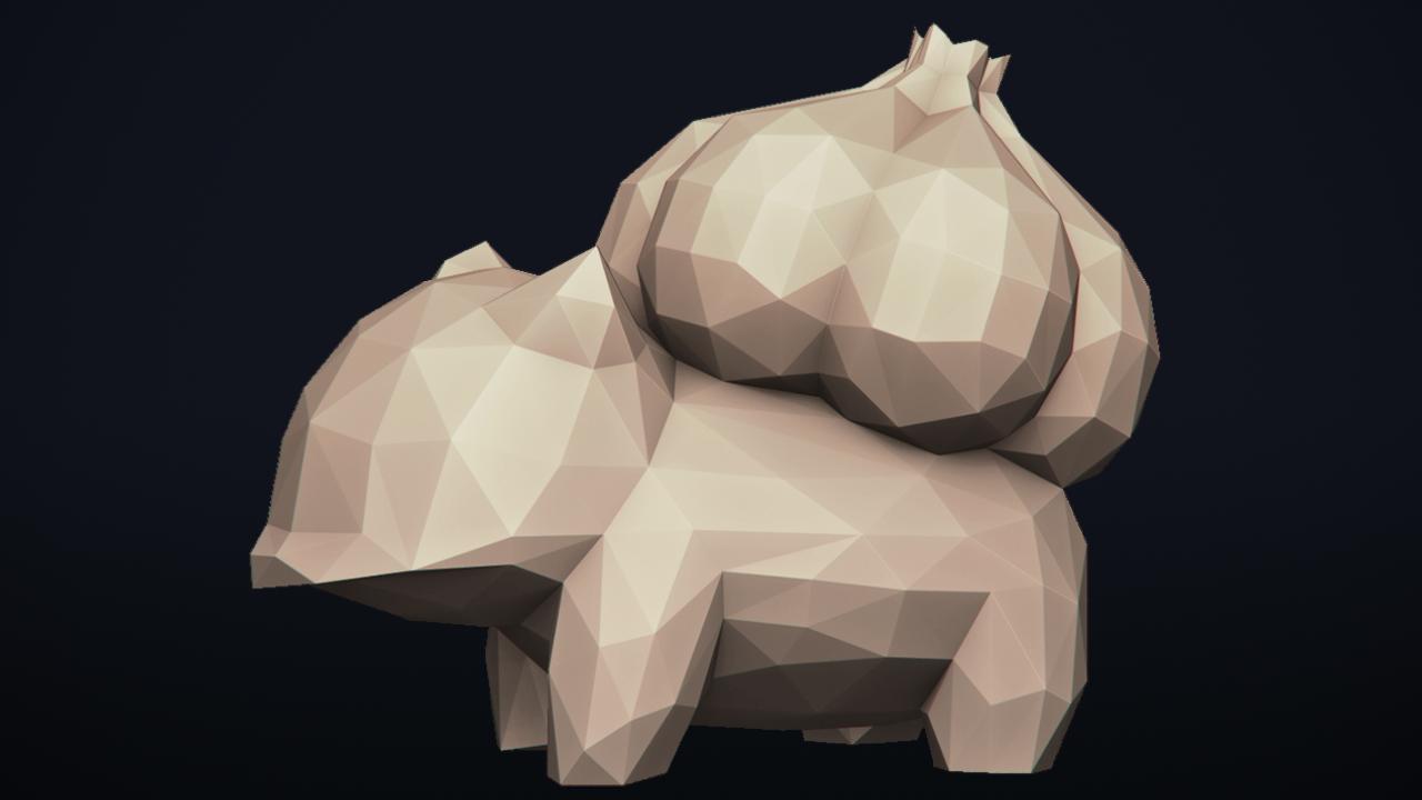 08.png Télécharger fichier OBJ Pokemon Bulbasaur LowPoly • Modèle pour impression 3D, MarProZ_3D