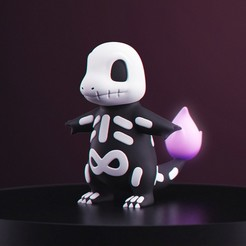 HWGlumanda_1.jpg Download free STL file Pokemon - Halloween Charmander • 3D print template, MarProZ_3D