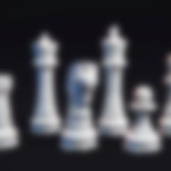 Télécharger fichier impression 3D gratuit Jeu d'échecs LowPoly, MarProZ_3D