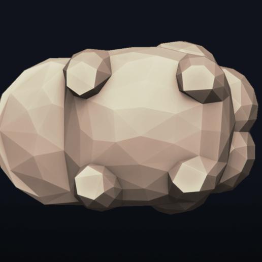 05.png Télécharger fichier OBJ Pokemon Bulbasaur LowPoly • Modèle pour impression 3D, MarProZ_3D