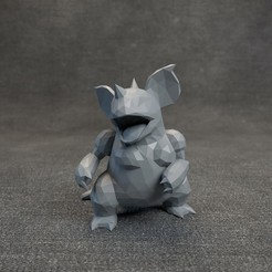 07.jpg Download OBJ file Pokemon Nidoqueen LowPoly • 3D print object, MarProZ_3D