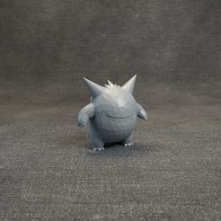 010.jpg Download OBJ file Pokemon Gengar LowPoly • 3D print object, MarProZ_3D