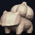 07.png Télécharger fichier OBJ Pokemon Bulbasaur LowPoly • Modèle pour impression 3D, MarProZ_3D