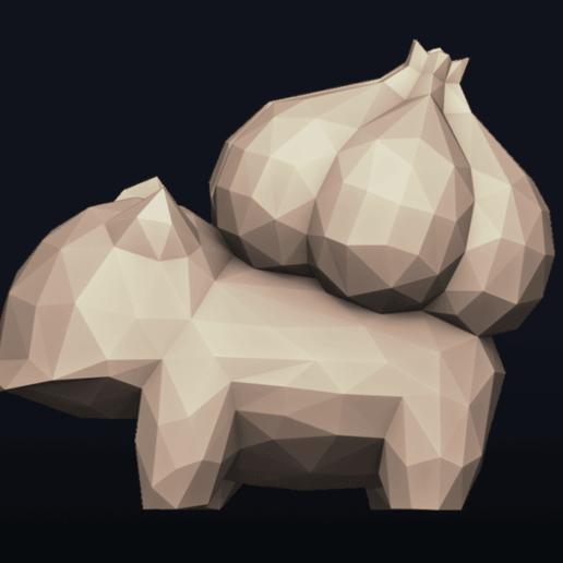 01.png Télécharger fichier OBJ Pokemon Bulbasaur LowPoly • Modèle pour impression 3D, MarProZ_3D