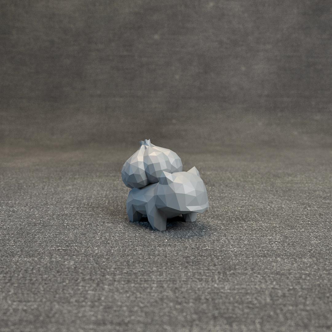 006.jpg Télécharger fichier OBJ Pokemon Bulbasaur LowPoly • Modèle pour impression 3D, MarProZ_3D