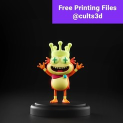 free.jpg Download free STL file Rick and Morty - King Flippy Nips • 3D printing design, MarProZ_3D