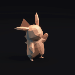 Download free 3D print files Pikachu LowPoly Pokemon , MarProZ