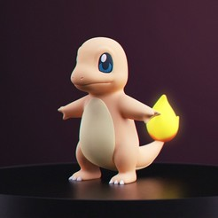 Glumanda_1.jpg Download free STL file Pokemon - Charmander • 3D printer template, MarProZ_3D