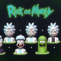 Impresiones 3D Rick y Morty, MarProZ