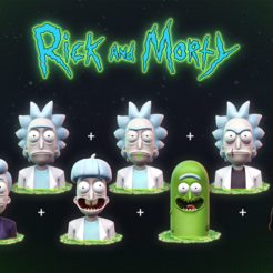 Download STL Rick and Morty, MarProZ