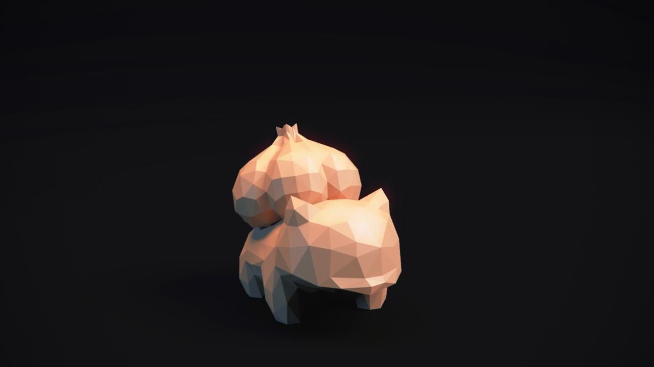 Thumbnail.png Télécharger fichier OBJ Pokemon Bulbasaur LowPoly • Modèle pour impression 3D, MarProZ_3D