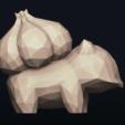 03.png Télécharger fichier OBJ Pokemon Bulbasaur LowPoly • Modèle pour impression 3D, MarProZ_3D