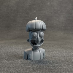 RickandMortyHeadz_04.jpg Download OBJ file Doofus Rick - Rick and Morty • 3D printer model, MarProZ_3D