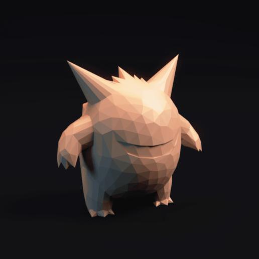 Descargar STL Pokemon Gengar LowPoly, MarProZ