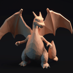 Download STL files Charizard Pokemon LowPoly, MarProZ