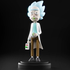 00.jpg Download STL file Rick and Morty - Rick Sanchez • 3D printable template, MarProZ_3D
