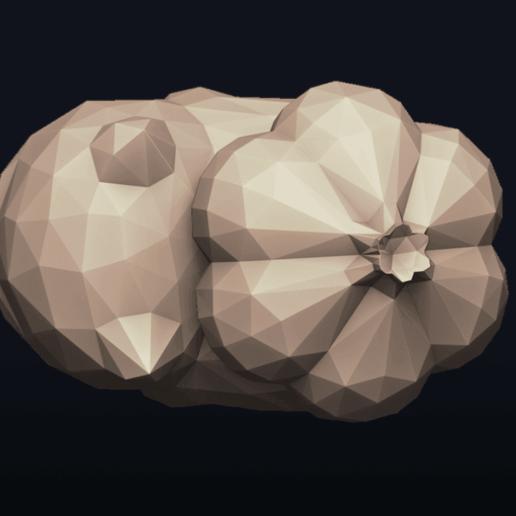 06.png Télécharger fichier OBJ Pokemon Bulbasaur LowPoly • Modèle pour impression 3D, MarProZ_3D