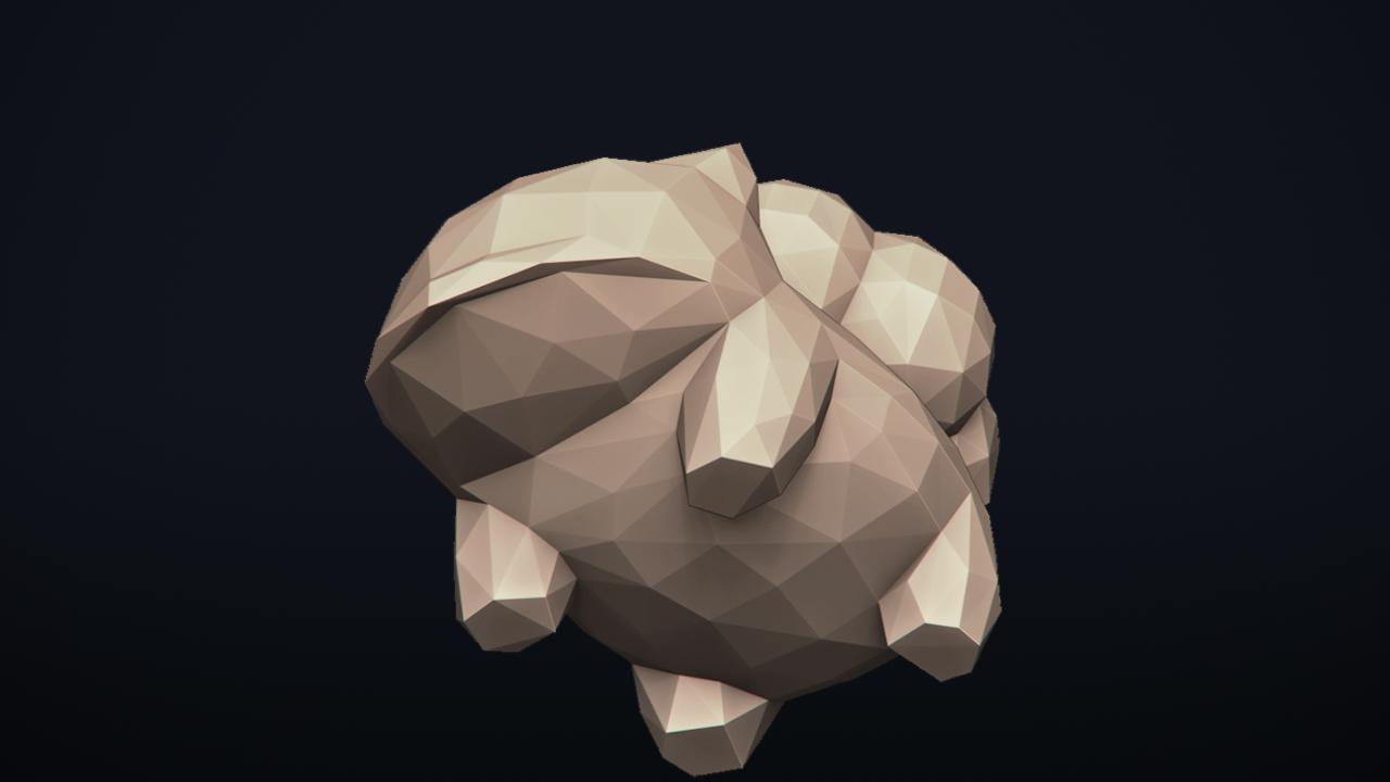 15.png Télécharger fichier OBJ Pokemon Bulbasaur LowPoly • Modèle pour impression 3D, MarProZ_3D
