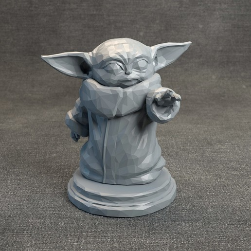 Download 3D printing models Baby Yoda LowPoly - Star Wars The Mandalorian, MarProZ