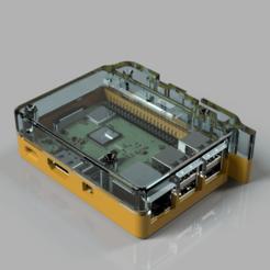 render.png Télécharger fichier STL DIN rail raspberry pi case • Modèle imprimable en 3D, Uavmax