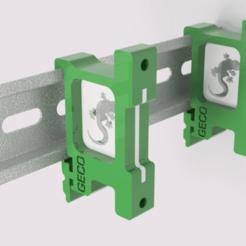 DINRAIL v1.png Download STL file DIN rail adapter • Model to 3D print, Uavmax