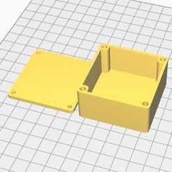 Descargar STL gratis La caja cuadrada se puede volver a cerrar mediante insertos M3 (pequeños), chanutthomas
