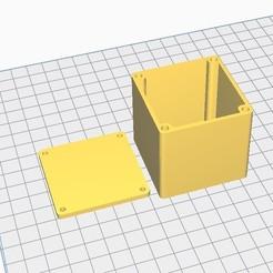 Descargar STL gratis La caja del cubo se puede volver a cerrar mediante insertos M3, chanutthomas