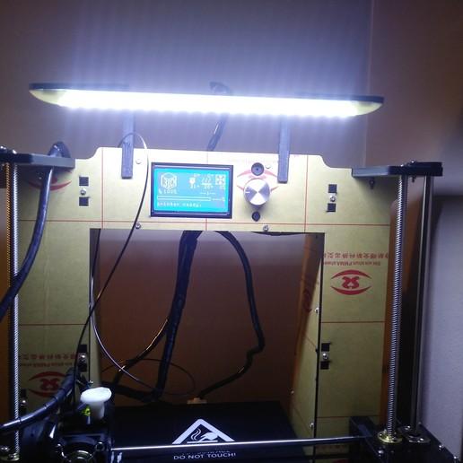 Télécharger plan imprimante 3D gatuit Support pour barre de led Anet A6, chanutthomas
