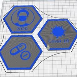 Capture d'écran 2020-09-12 112543.jpg Download free STL file Hex Tile Health • 3D printable template, chanutthomas