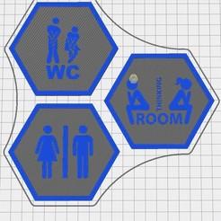 Capture d'écran 2020-09-12 113936.jpg Download free STL file Hex Tile WC • Design to 3D print, chanutthomas
