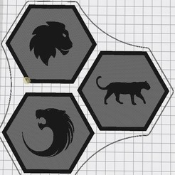 Capture d'écran 2020-09-12 140708.jpg Download free STL file Hex Tile Felins • Model to 3D print, chanutthomas