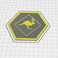 Capture d'écran 2020-09-11 135234.jpg Download free STL file Hex Tile Kangaroo • 3D printable template, chanutthomas