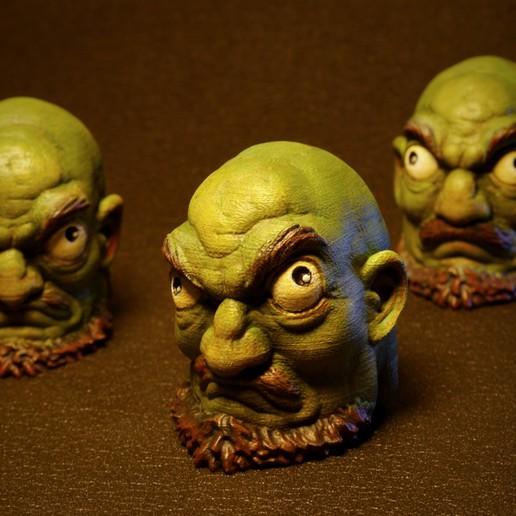 Download STL Kashira:Green head minions, DreamStarter