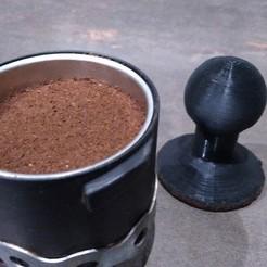 Descargar archivos STL gratis Filtro de mango de soporte / Prensa de café / Prensa de café, Loul