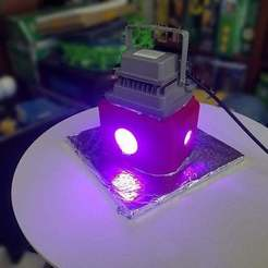Curing_On.jpg Download free STL file UV Curing Box • 3D printable design, quirkymojo