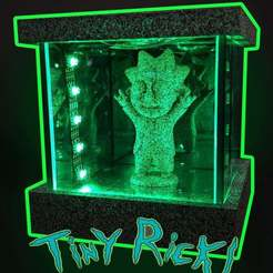 Thumbnail_Final_thingivers_v2.jpg Download free STL file Tiny rick RGB lamp • 3D printer design, ej-tech